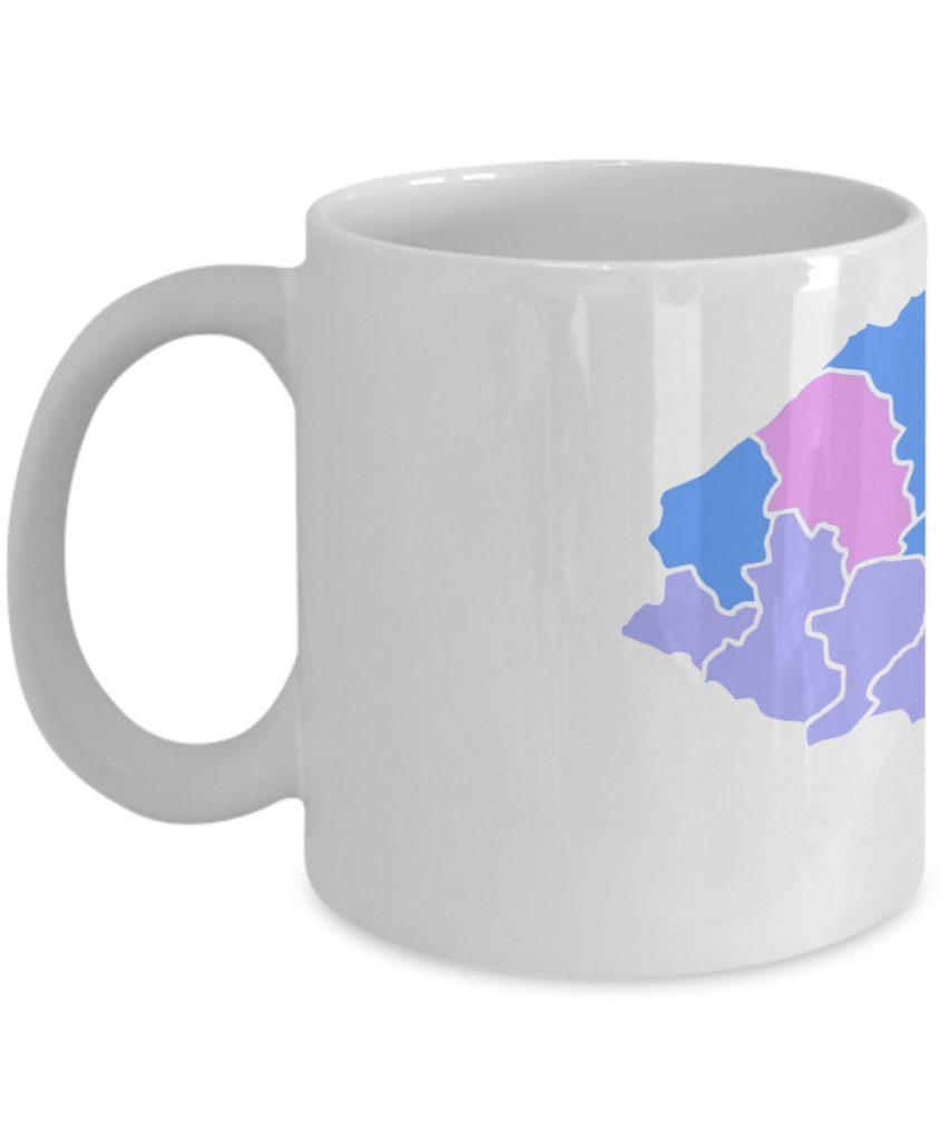 Honduras Taza de Cafe con Mapa de Colores