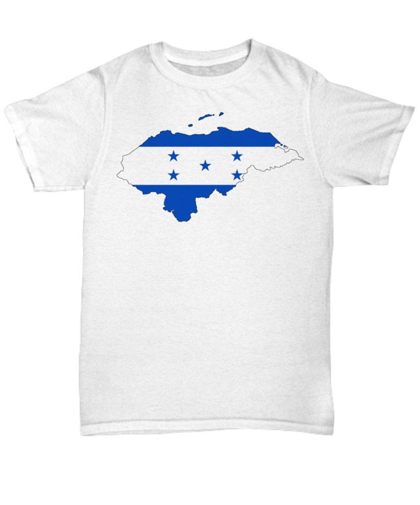 Honduras T-Shirt Camisa con Mapa